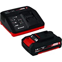 Einhell Starter Kit Power X-Change (18 V / 2,0 Ah 1 chargeur + 1 batterie 2,0 Ah (4511395), Temps de charge : 40 min,Témoin de niveau de charge)