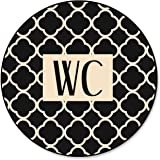 1 stuk wc-bord toiletbord wc-bord in moderne beige zwart vintage patroon look - neutraal - voor vrouwen en mannen; ongeveer 1
