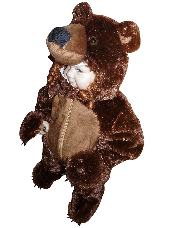Braunbär-Kostüm, F67 Gr. 74-80, für Klein-Kinder und Babies, Bären-Kostüme Fasching Karneval Fasnacht, Karnevalskostüme…