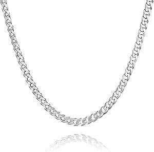 STERLL Catenina da uomo in argento, con custodia per gioielli, ideale come regalo per uomo
