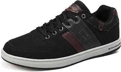 ARRIGO BELLO Sneakers Uomo Scarpe Casual da Ginnastica Eleganti PU Pelle Sportive Interior all'Aperto Taglia 41-46