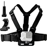 techlife solutions Adjustable Chest Harness Mount J Hook Mount - Chest Strap Holder Compatible with All GoPro, Xiaomi Yi, SJcam and All Other Action Cameras
