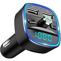 Cocoda Bluetooth FM Transmitter für Auto, Blaue Umgebende Leuchte Drahtloser Radio Kfz-Empfänger Adapter mit…