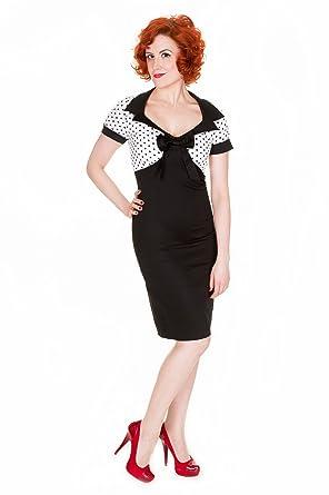 925706a2cb85 Lindy Bop 'Petite' 'Laney' Vintage Fifties Black Wiggle Dress ...