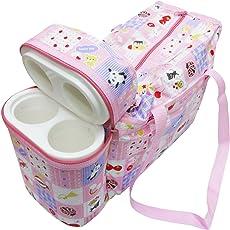 Wonderkids Pink Multi Print Baby Diaper Bag
