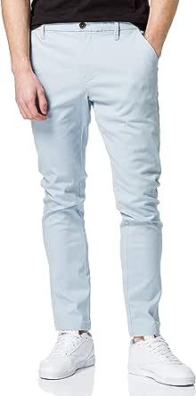 MERAKI Men's Cotton Slim Fit Chino Trousers