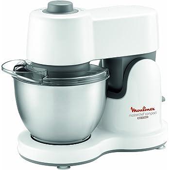 Moulinex QA200110 Robot Pâtissier Multifonctions Masterchef Compact Blanc