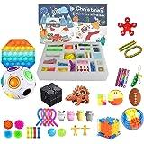 Hihere Fidget Adventskalender voor Kerstmis met 24 Fidget Toys Pack Blind Box Antistress Relief Toy Anti Stress Set B