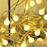 Fulighture Luci LED a Batteria, Catena Luminosa Interno, 5M 40LED Lucine LED Decorative per Camera da Letto, Balcone, Giardin