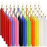 SaiXuan Velas 100 Colores Surtidos de hechizos Velas sin Goteo pequeño para Chimes, Magia, Congregación, vigilia con Velas, r