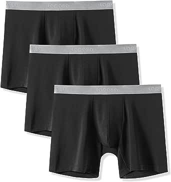 LAPASA 3 Pack Men's Boxers Underwear Men's Micro Modal Trunks Boxers Briefs For Men Boxer Shorts M71