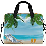 FELIZM Laptoptasche mit Schultergurt, tropische Strandpalme, Laptoptasche mit Schultergurt, Notebook-Computertasche für Männe