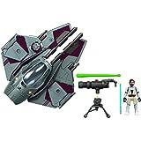 Star Wars Mission Fleet Stellar Class Obi-Wan Kenobi Jedi-sterrenjager verfolgjagd 6 cm groot figuur en voertuig, voor kinder