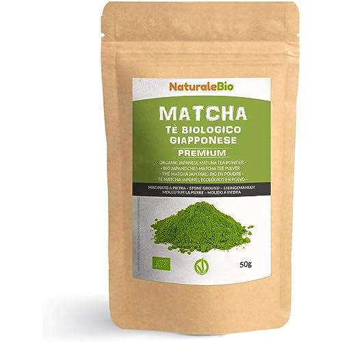 Tè Verde Matcha Biologico in Polvere [ GRADO PREMIUM ] da 50 grammi. The Matcha Prodotto in Giappone Uji, Kyoto. Ideale da Bere, per i Dolci, Frullati, Tè freddo, nel Latte e come ingrediente.