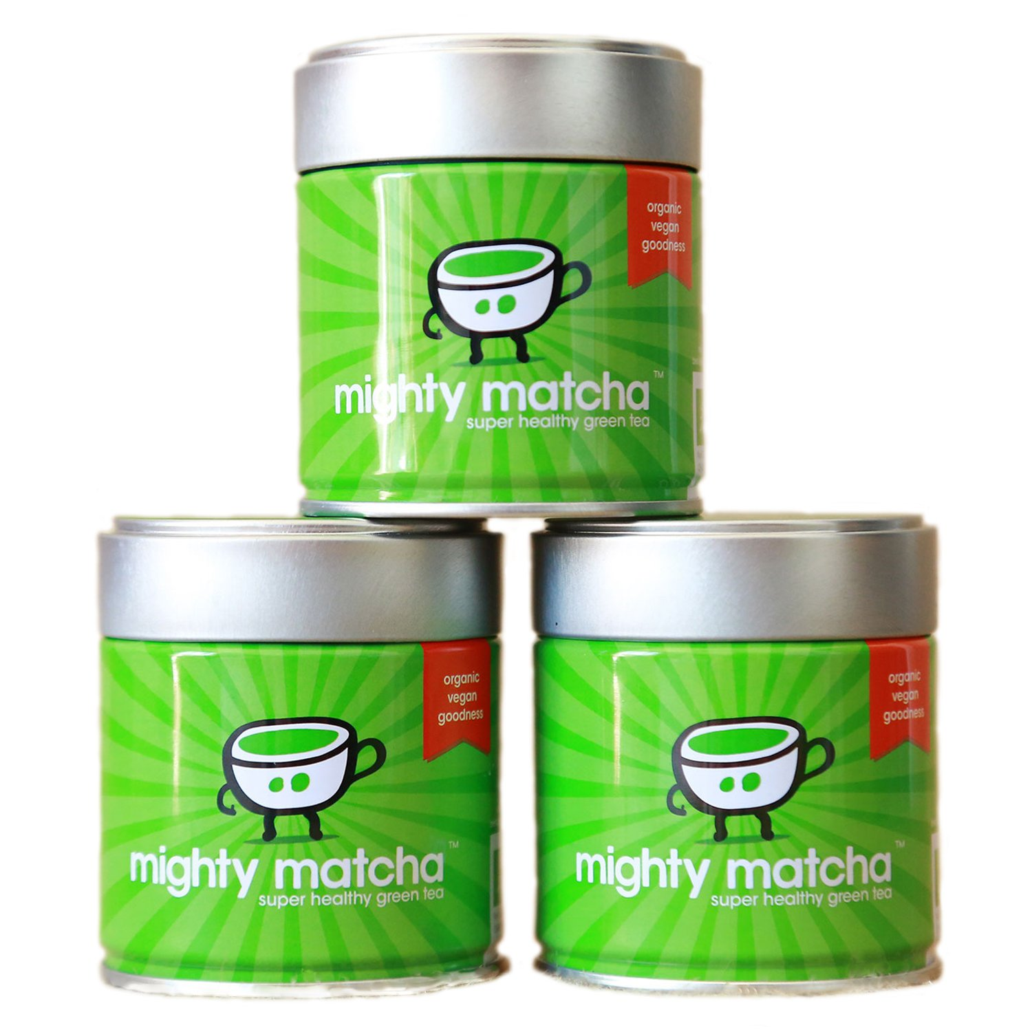Mighty Matcha | Organic Ceremonial Grade Matcha Green Tea Powder | Great Taste Winner 2012 | Single Source First Harvest | Certified GB-ORG-05 EU Organic | Energy Boost, Detox, Weight Loss |