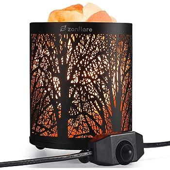 Zanflare Lampe de Sel Himalaya en Cristal Naturel, Cadeau d'Anniversaire, Cadeau Original, Sain pour le Corps et d'Esprit pour Familles, Amis, Enfants, Garçons et Filles.