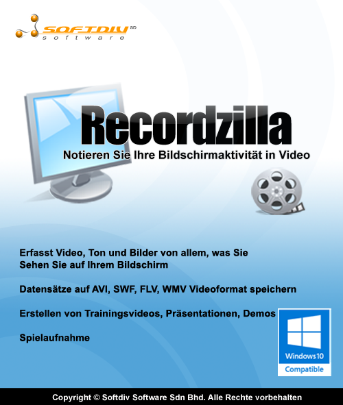 Recordzilla Bildschirm recorder [Download]