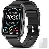 Reloj Inteligente Hombre 1.69''Smartwatch con Pulsómetro Podómetro,Smartwatch Hombre Monitor de Sueño Impermeable Pulsera Act