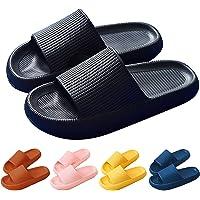 Unisex Pillow Slides Slippers Women Light Weight Shower Slides Summer Poolside Sliders Men Non-Slip Flat Slide Sandals…