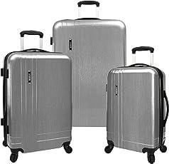 U.S. Traveler Silver 3-Piece Lightweight Expandable Spinner Set