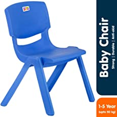 Bey Bee - Bey Bee - Strong & Durable Plastic Baby Chairs for Kids | Toddler | School Study Chair (1-4 Years) (Blue)