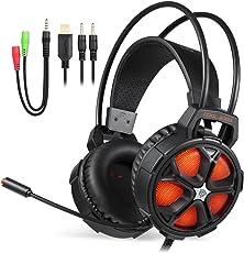 Gaming Headset, EasySMX Stereo Gaming Kopfhörer für PC/Mac / Neu Xbox One / PS4 / Smartphone/Nintendo Schalter