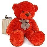 GURUDEV Loveable HUGABLE Soft Giant Life Size , Long Huge Teddy Bear(Best for Someone Special) (5 Feet, Red)