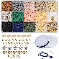 Potosala Perline piatte in pasta polimerica fatte a mano Potosala 6mm 2600 pezzi Perline distanziali sciolte per…