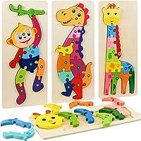 Faburo 4PCS Animaux Puzzles en Bois, Jigsaw Puzzle Jouets, Bébé Puzzle à Encastrements, Jouets Montessori Educatif…
