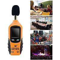 Sonomètre/Décibelmètre numérique 40-130dB écran LCD rétroéclairé, professionnel mesure décibel, pile 9V inclus