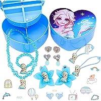 LMZZ Disney Frozen Set di gioielli 11pcs Regina di ghiaccio Gioielli Aisha (1pcs collana+1pcs Braccialetto+2pcs…
