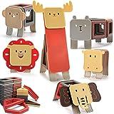 nicknack Animal Bloques de construcción magnéticos, 83PCS Niños 3D Bloques de construcción magnéticos Juegos de juguetes Rega
