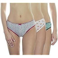 VSTAR HP1401-Emily Cotton Printed Semi Bikini Panty Assorted - Pack of 3