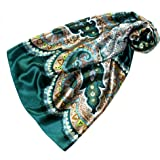 Lorenzo Cana 89082 - Panno di seta con stampa elaborata, 100% seta, 90 cm x 90 cm, colori armoniosi