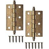 Fuxer® - 2 x antieke scharnieren, metalen scharnieren, ijzeren scharnieren, klassiek design, voor kasten, kastdeuren, kisten,