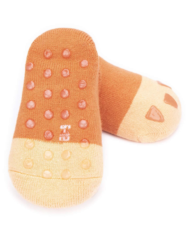 Adorel Calcetines Zapato Antideslizantes para Bebé Lote de 6 5
