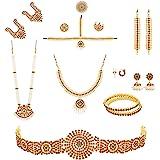 UG PRODUCTS Gold Plated Bharatanatyam Jewellery Set for Women (Gold)