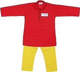 TinySteps Kids Embroidered Cotton Kurta Pyjama Set For Boys