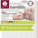 LILOU MIAKA - Matelas bébé Bambou Déhoussable – pour lit 60 x 120