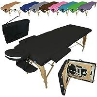 Vivezen ® Table de massage pliante 2 zones en bois avec panneau Reiki + Accessoires et housse de transport - 10 coloris…
