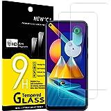 NEW'C 2 Unidades, Protector de Pantalla para Samsung Galaxy A11, Galaxy M11, Antiarañazos, Antihuellas, Sin Burbujas, Dureza