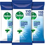 Dettol Antibacterial Surface Cleaning Disinfectant Wipes 3 x 110 each, 330 Wipes