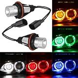ePathChina 2pcs 1000LM 6000K Error Free LED Angel Eyes Marker Lights Bulbs Fit for BMW E39 E53 E60 E61 E63 E64 E65 E66…