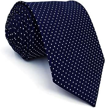 Shlax & Wing - Cravatte da uomo, taglia extra lunga, colore: blu navy