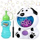 joylink Macchina per Bolle Bambini, Portatile Cane Sparabolle di Sapone Automatico Bubble Machine con Soluzione di Sapone, 50