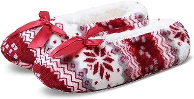 JARSEEN Pantofole da donna con imbottitura morbida e calda, con suola antiscivolo in ABS, per la casa