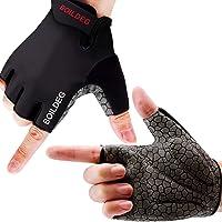 boildeg Cycling Gloves Bike Gloves Mountain Road Bike Gloves Anti-slip Shock-absorbing Pad Breathable Half Finger…