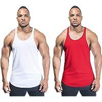 DK ACTIVE WEAR Men's Plain Bodybuilding Gym Y Back Stringer/Racerback Vest Dry-Cool