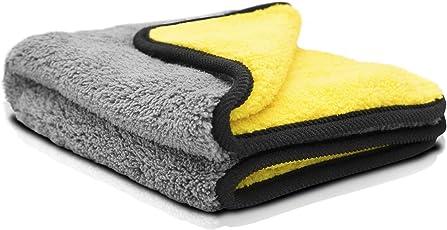 Premium Mikrofasertuch – Autopflege leicht gemacht - effektives Reinigungstuch für Auto und Motorrad – durch lackschonende Verarbeitung und hohe Saugkraft der optimale Helfer bei der KFZ-Reinigung (1)