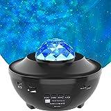 Amouhom nachtlampje, Sterlicht Projector met Bluetooth-luidspreker, Ocean Wave-bedlampje, instelbare lichtheid en afstandsbed